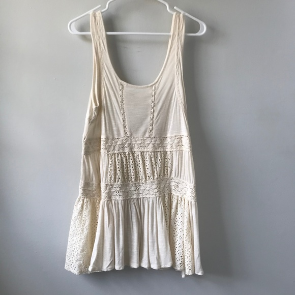 Free People Cream Eyelet Dress or Swimsuit Coverup